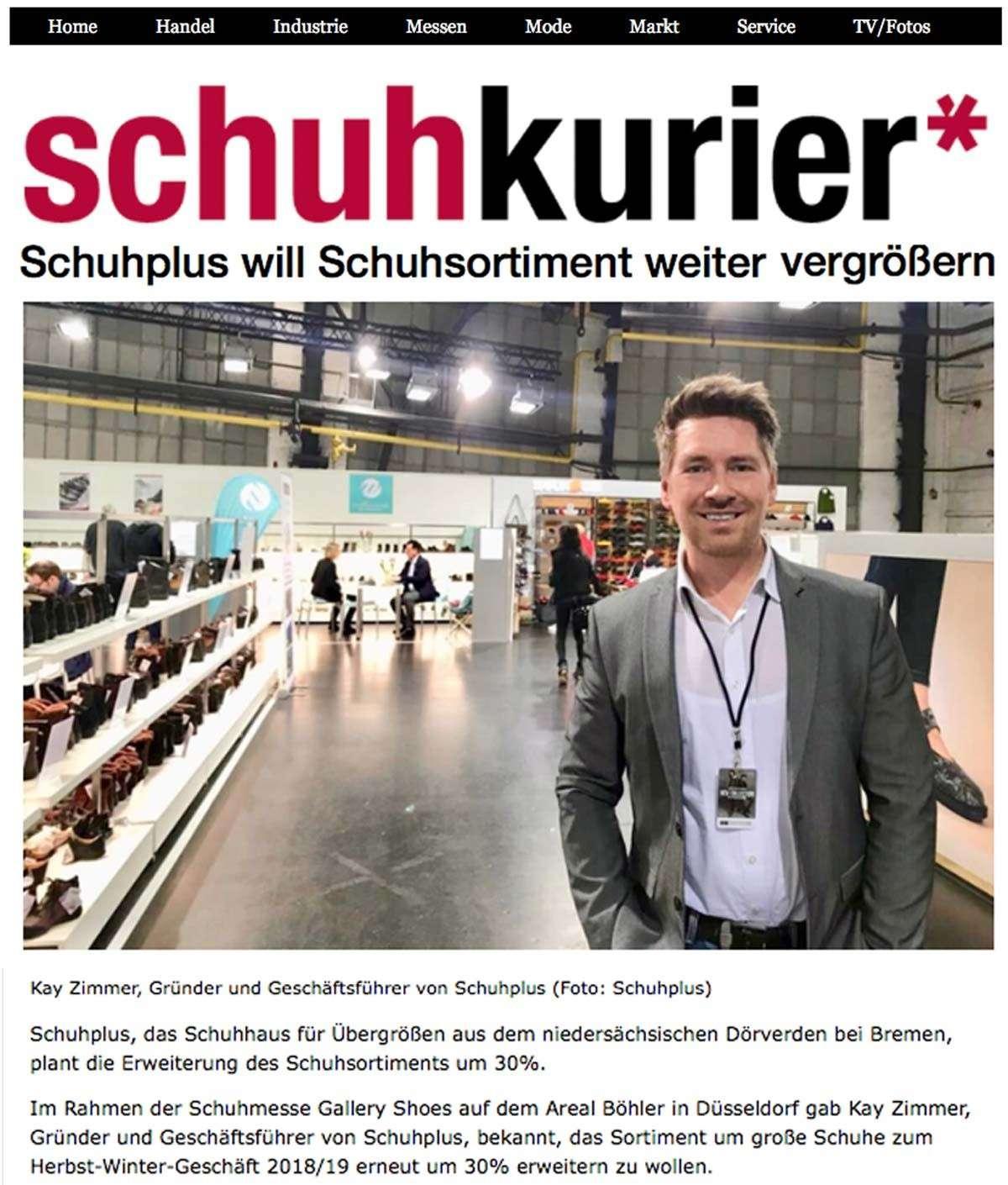 schuhplus will Schuhsortiment weiter vergrößern: Artikel