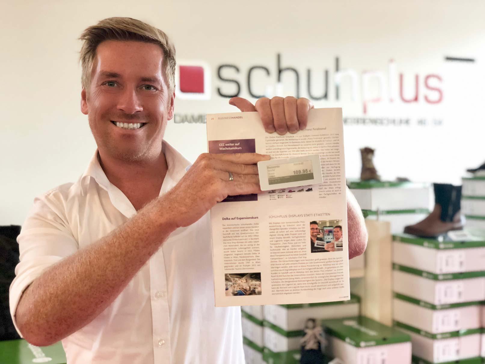 Bericht über schuhplus im Fachmagazin SHOEZ