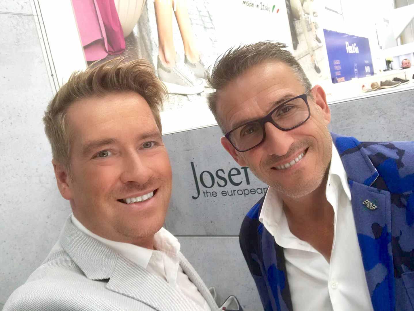 Kay Zimmer (links) mit Carl-August Seibel (rechts) auf der Gallery Shoes 2018
