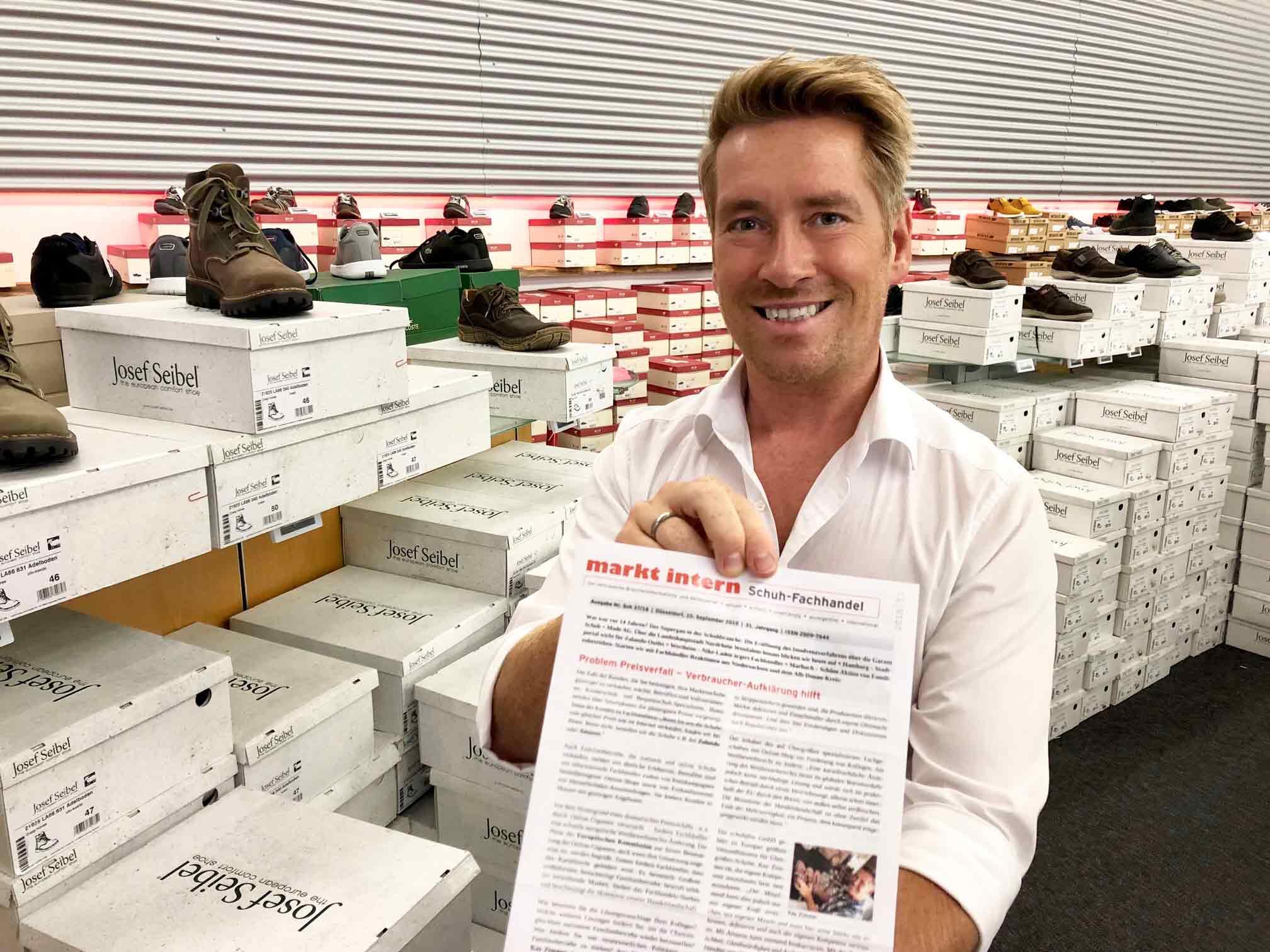 Bericht über schuhplus im Schuh-Fachhandel Brancheninformationsbrief markt intern