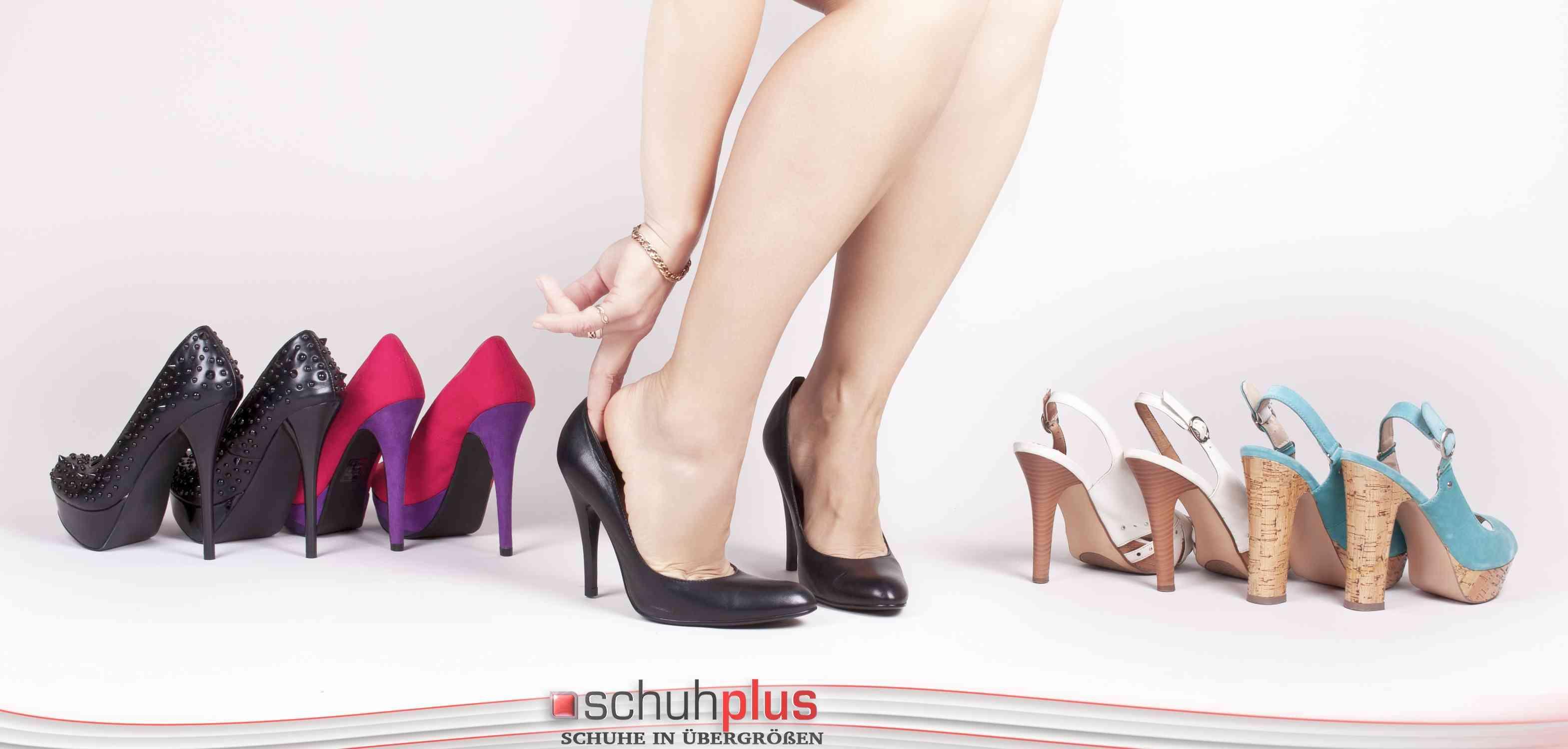 online retailer f221a 887c1 Glamouröse und elegante Schuhe vom Übergrößen-Spezialisten ...